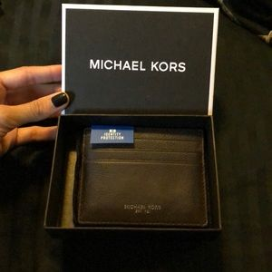 Michael kors leather card case